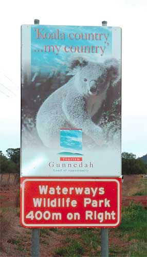 Waterways Wildlife Park - Accommodation Mermaid Beach