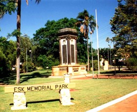 Esk War Memorial and Esk Memorial Park - Accommodation Mermaid Beach